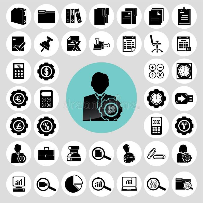 Accountant icons set. stock illustration