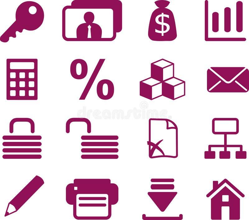 Accountant internet icons royalty free illustration