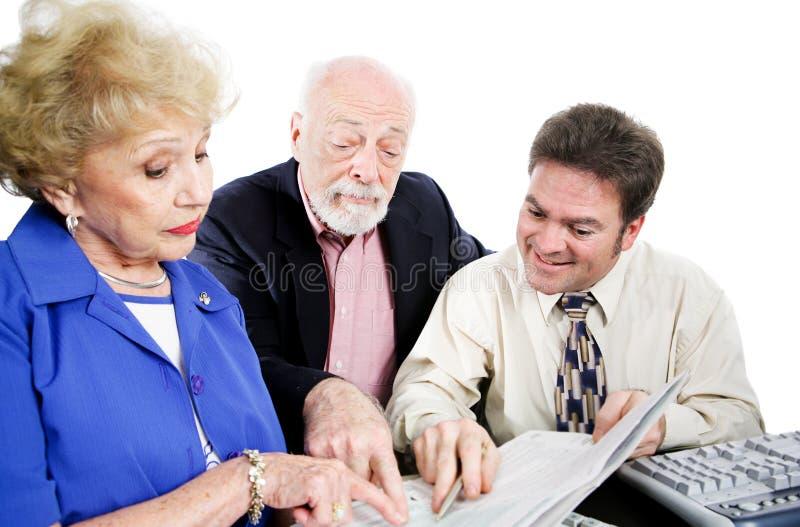 Accountant met Hogere Cliënten royalty-vrije stock afbeeldingen