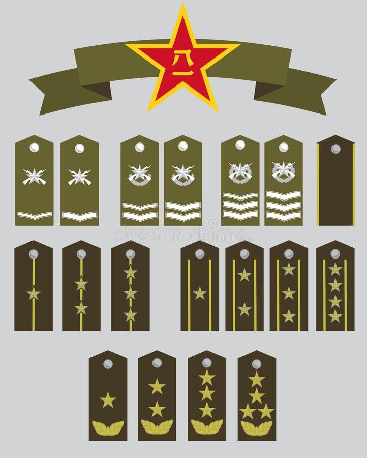 accountant militaire rangen en ster stock illustratie
