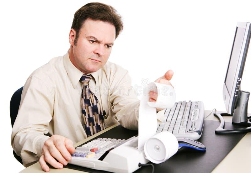 Accountant Serious stock afbeelding