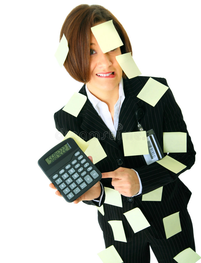 Free Accountant Stressed With Number On Calculator Royalty Free Stock Photo - 7709715