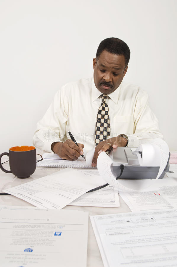 Download Accountant Working At Office Stock Photo - Image of black, noting: 29661224