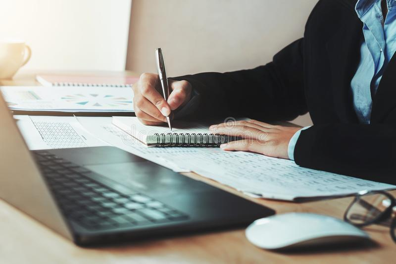 accountant working in office. concept finance royalty free stock photo