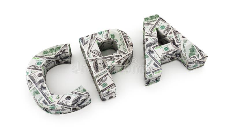 accountantwinst stock illustratie