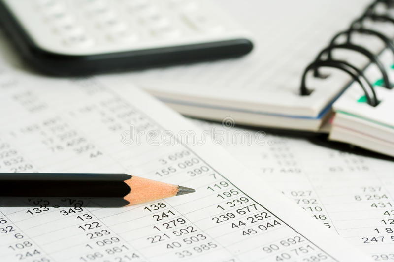 Accounting. Business reports and financial balance royalty free stock images