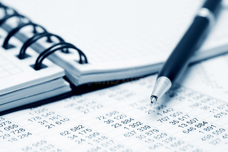 Financial accounting. Close up of financial data analysis royalty free stock photography