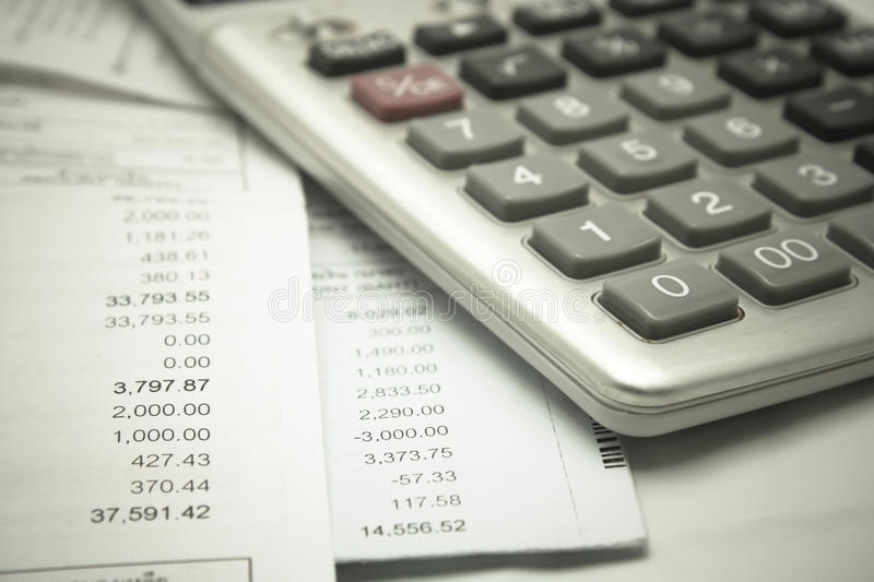Accounting. Report showing with money royalty free stock photos