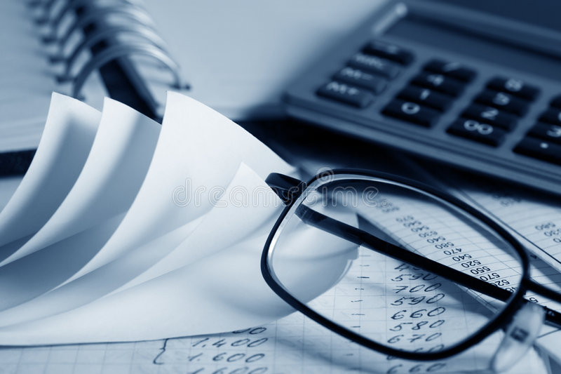 Accounting. Close up of financial reports analysis royalty free stock photos