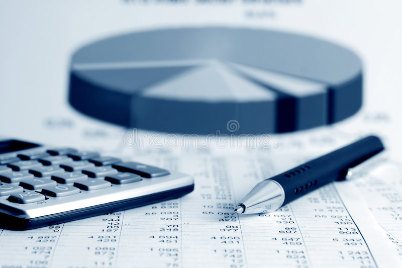 Financial accounting. Financial analysis and stock market graphs and charts royalty free stock photography