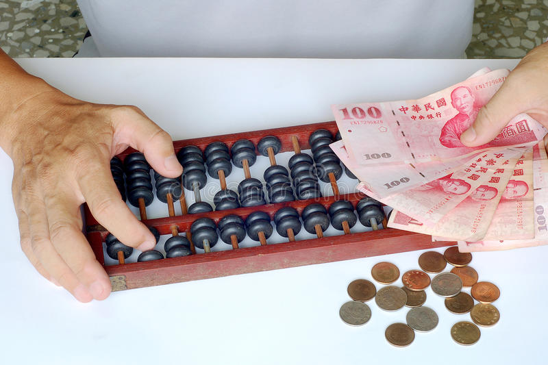 Accounting With the abacus. Accounting With the Ancient Tradition Chinese abacus stock image