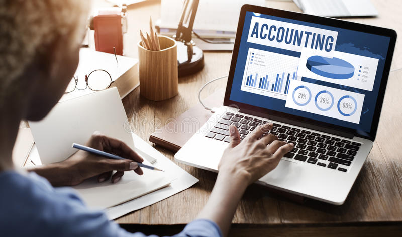 Accounting Auditing Balance Bookkeeping Capital Concept royalty free stock image