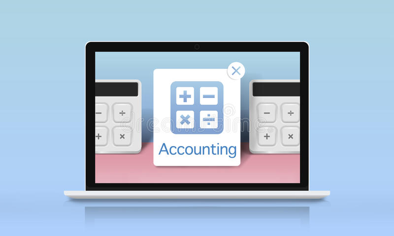 Accounting Banking Investment Budget Calculator Concept vector illustration
