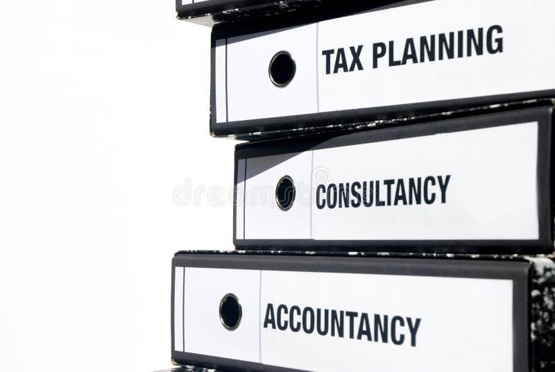 Accounting binders stock photos