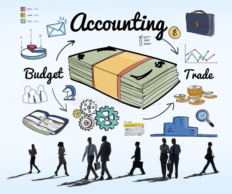 Accounting Bookkeeping Finance Economic Money Concept royalty free stock photography