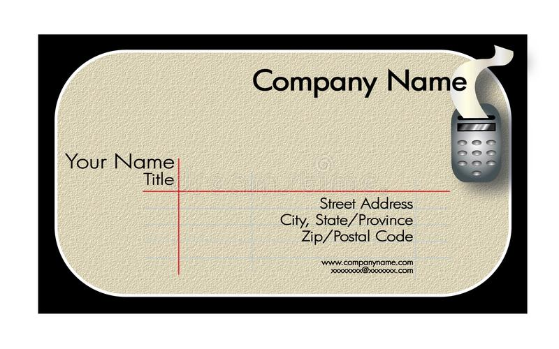 Accounting Business Card vector illustration