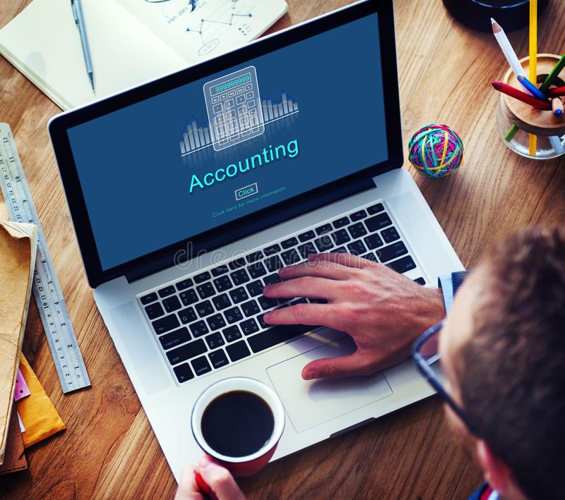 Accounting Business Credit Economy Icon Concept stock images