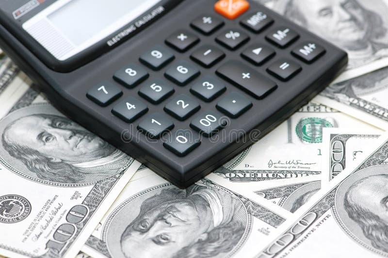 Accounting calculator stock image