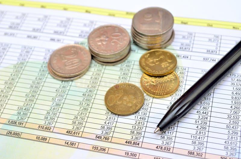 Accounting charts and diagrams royalty free stock photography