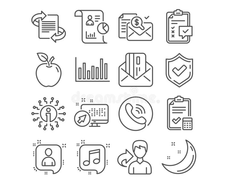 Accounting checklist, Report and Checklist icons. Developers chat, Bar diagram and Accounting report signs. Vector. Set of Accounting checklist, Report and royalty free illustration