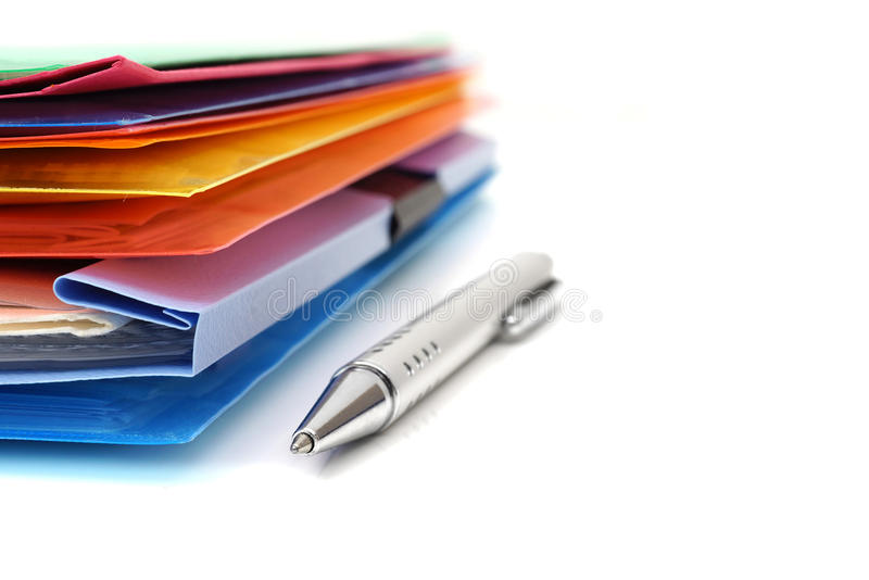 Accounting concept with files and folders stock images