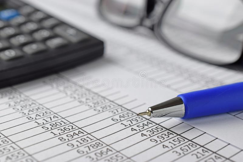 Accounting concept stock photography