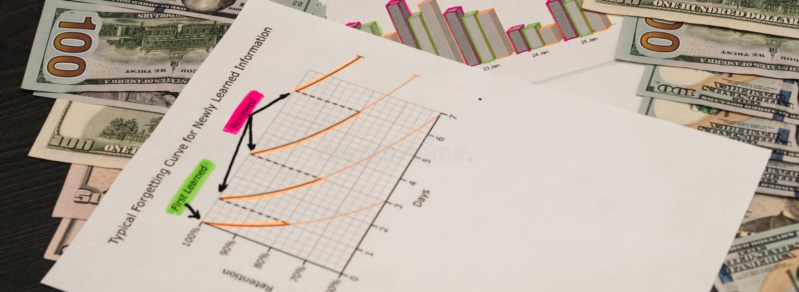 Accounting concept. Teaching finance and credit, accounting and economics. royalty free stock photos
