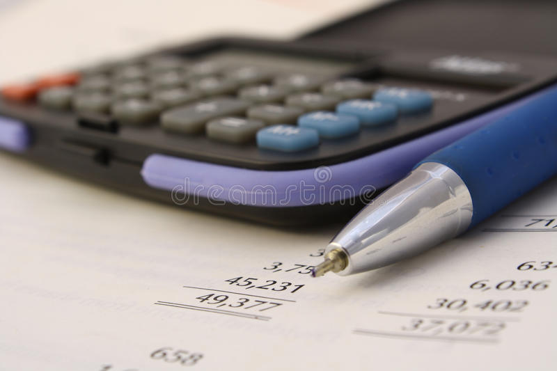 Accounting and correcting royalty free stock images