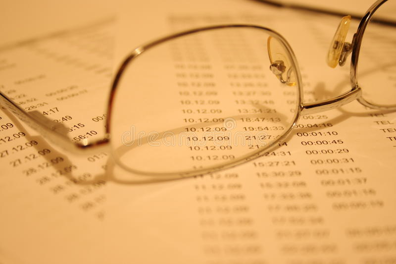Accounting figures royalty free stock photo