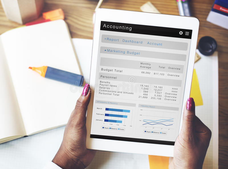Accounting Finance Business Economy Banking Concept royalty free stock photography