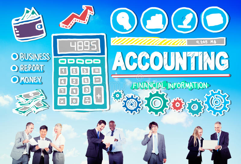Accounting Finance Money Banking Business Concept vector illustration