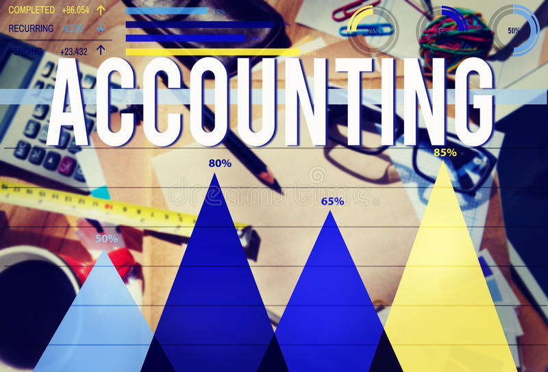 Accounting Financial Banking Economy Marketing Concept royalty free stock photos