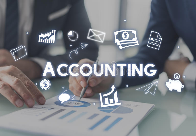 Accounting Financial Economy Capital Management Concept stock image
