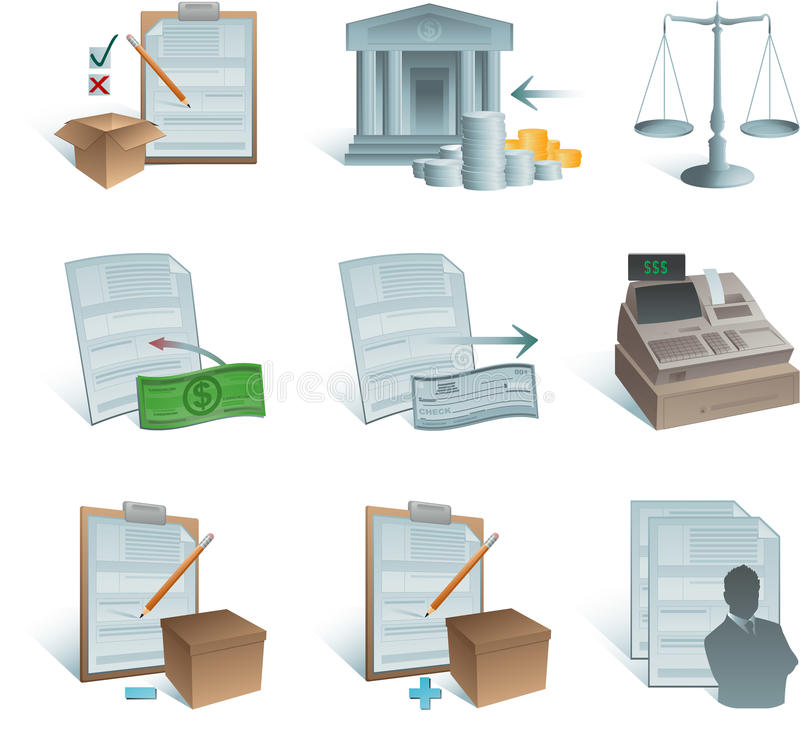 Accounting icons royalty free illustration