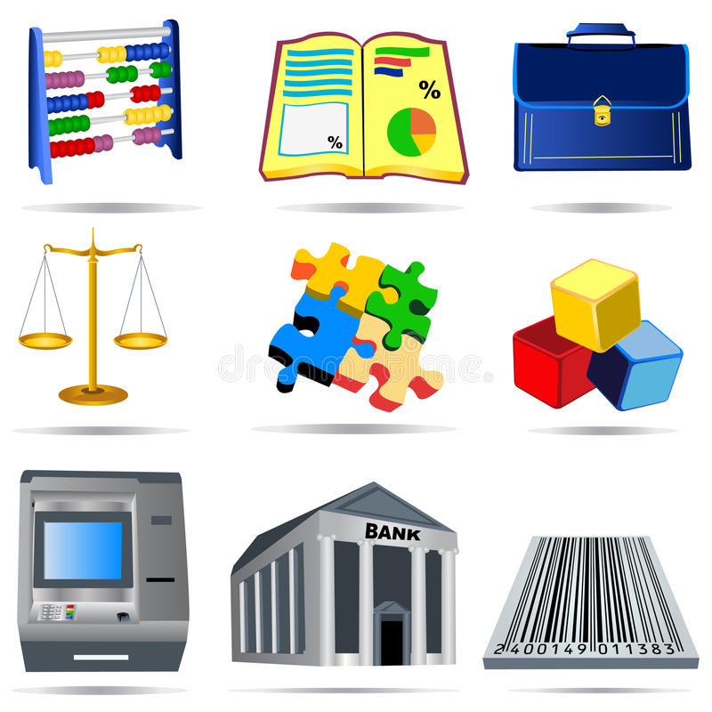 Accounting Icons Set 4 Royalty Free Stock Photography