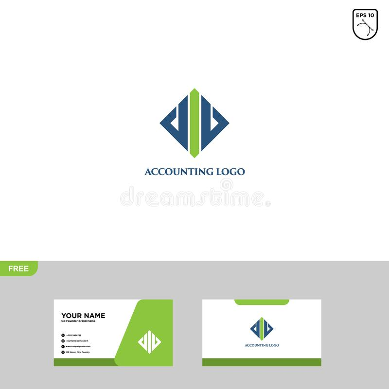 Accounting Logo Template and Business Card stock photo