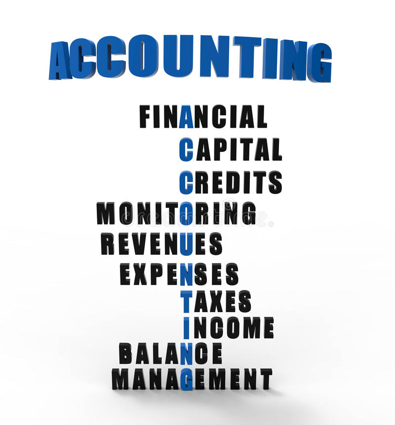 Accounting possible topics royalty free illustration