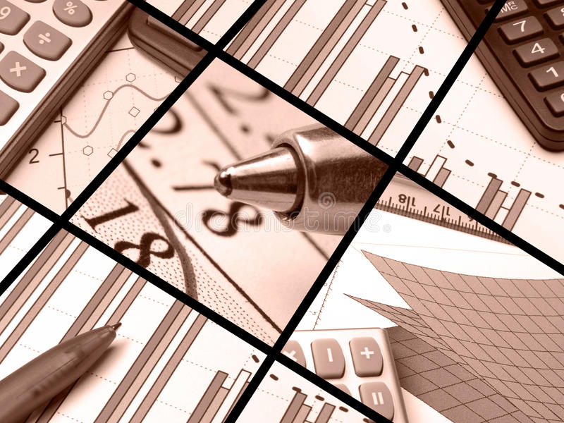Accounting (red) stock image