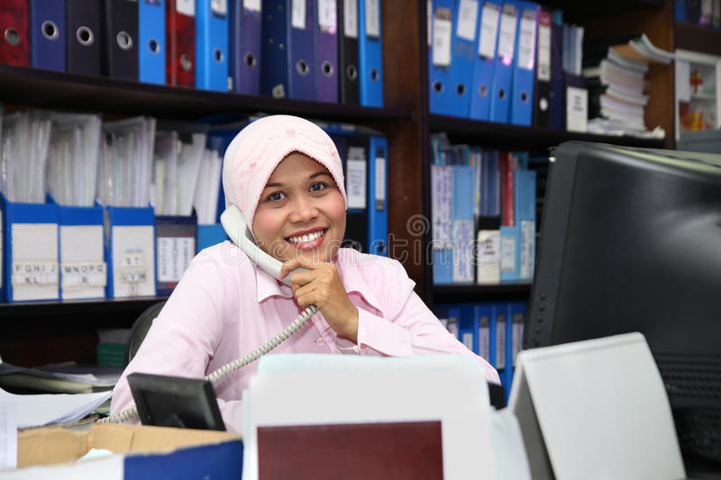 Download Accounting staff calling stock image. Image of office - 12416621