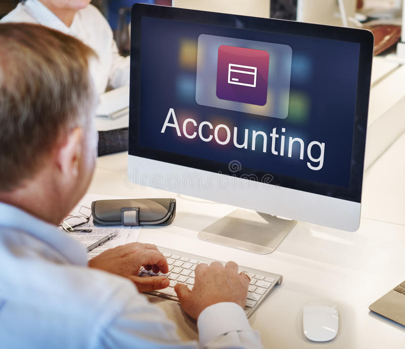 Accounting Statistics Technology Application Concept stock image