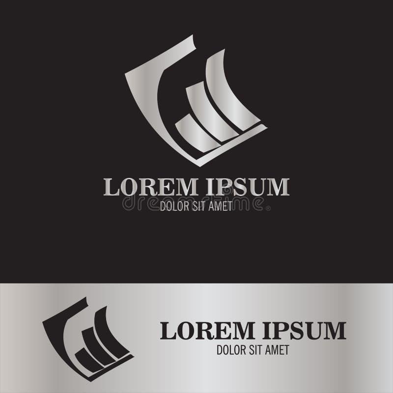 Accounting symbol logo. This is abstract accounting symbol logo stock illustration