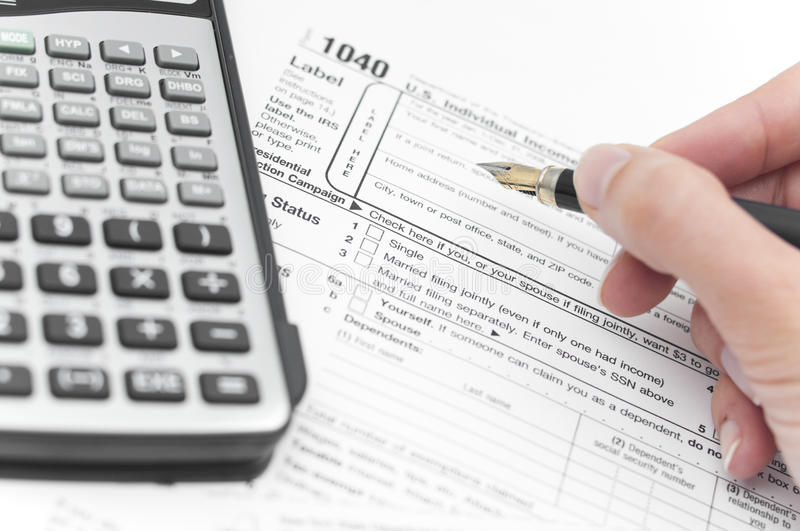 Accounting taxes stock image