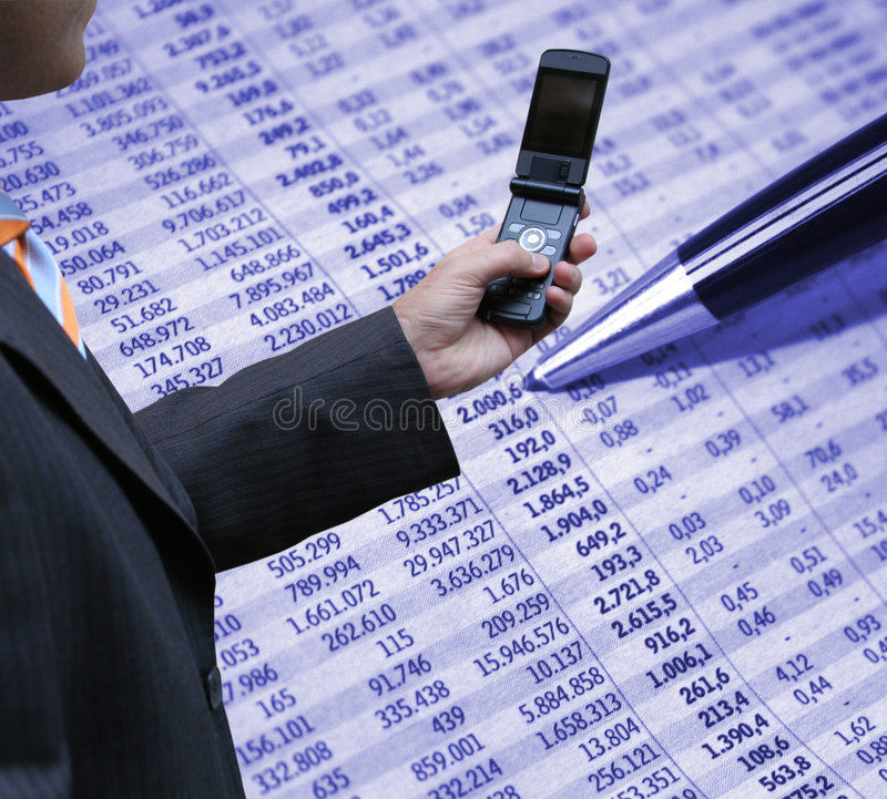 Accounting and technology royalty free stock image
