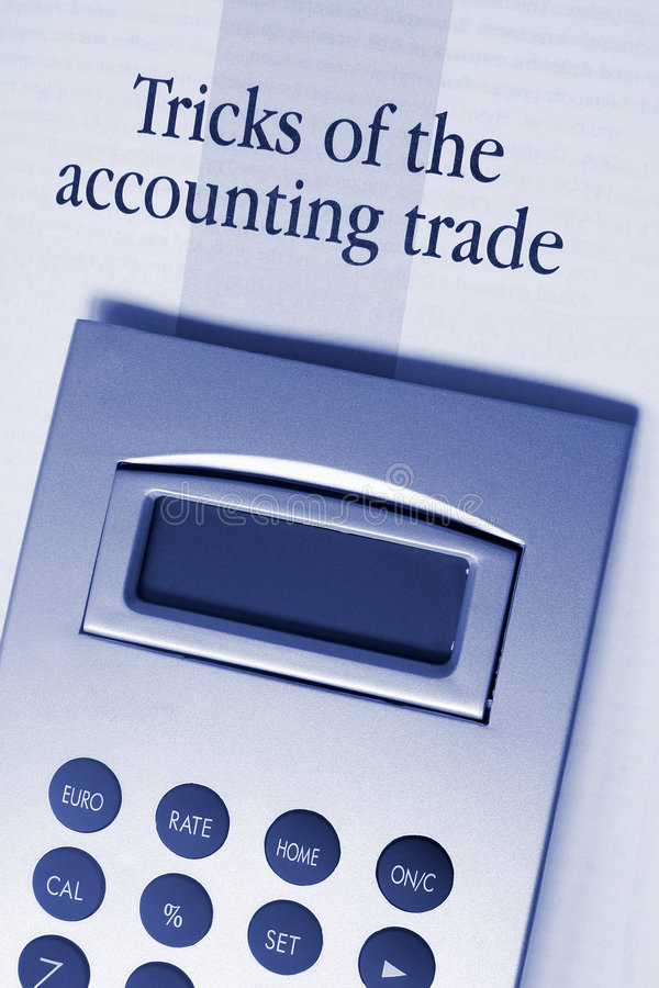 Accounting Tricks stock photography