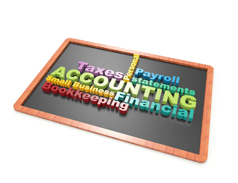 Accounting word concept on chalkboard royalty free illustration