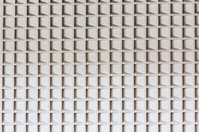 Accoustic wall. A concrete wall with baffles for accoustics. Makes a great background texture or pattern stock photography