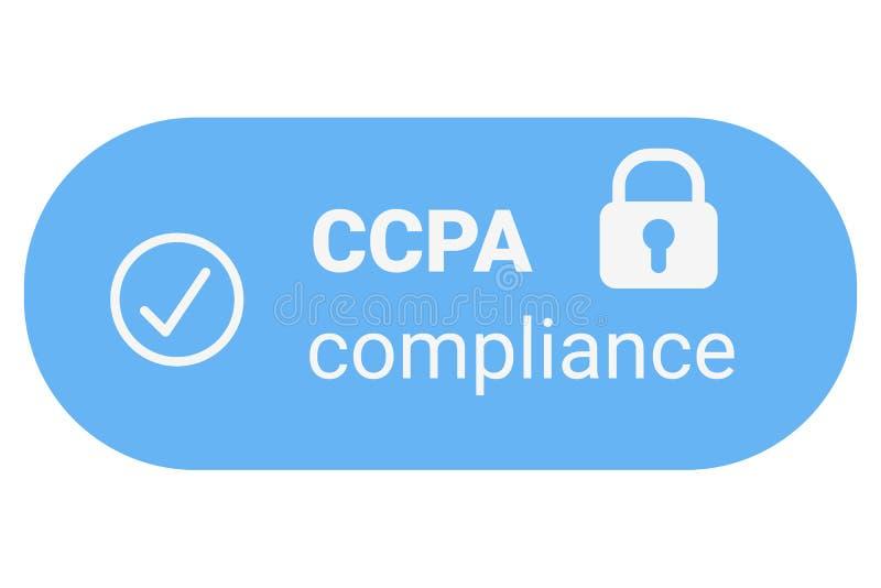 ACCP - California Consumer Privacy Act logo vectoriel Protection des consommateurs pour les résidents de Californie (États-Unis)  illustration libre de droits