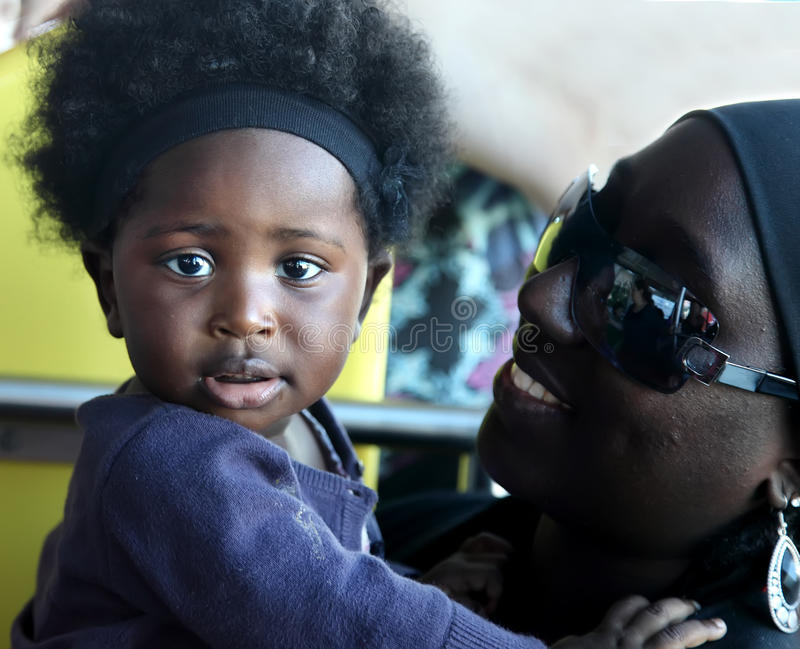 ACCRA, GHANA - July 1, 2014. Unidentified Ghanaian little baby stock image