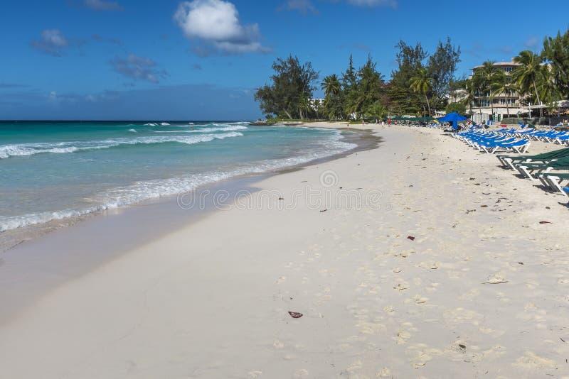 Accra strandBarbados västra indies royaltyfri foto