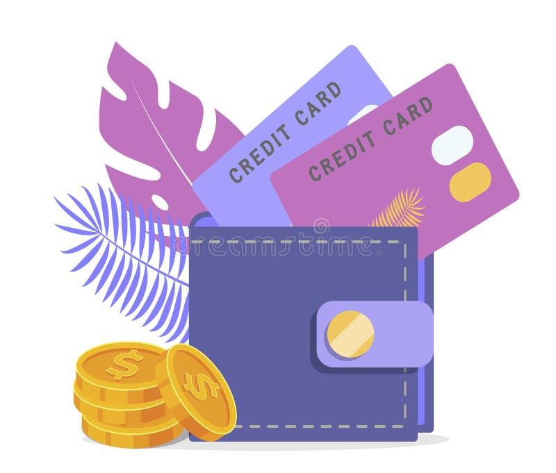 Accredito, soldi di rimborso, illustrazione di stock
